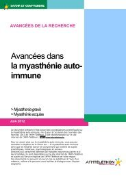 Avancées dans la myasthénie auto- immune - AFM - Groupe ...