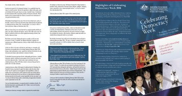 Celebrating Democracy Week 2006 - Brochure - Civics and ...