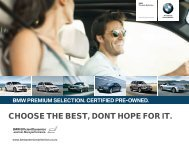 CHOOSE THE BEST, DONT HOPE FOR IT. - BMW New Zealand
