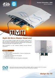 MyM-3S Micro Master Head end - A2b.se