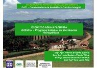 VIVÊNCIA - Programa Estadual de Microbacias Hidrográficas - SIGAM