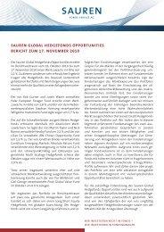 sauren global hedgefonds opportunities bericht ... - Hedgeconcept.de