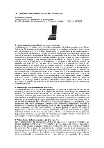 LA CONSERVACIÓN PREVENTIVA DEL ARTE RUPESTRE Juan ...