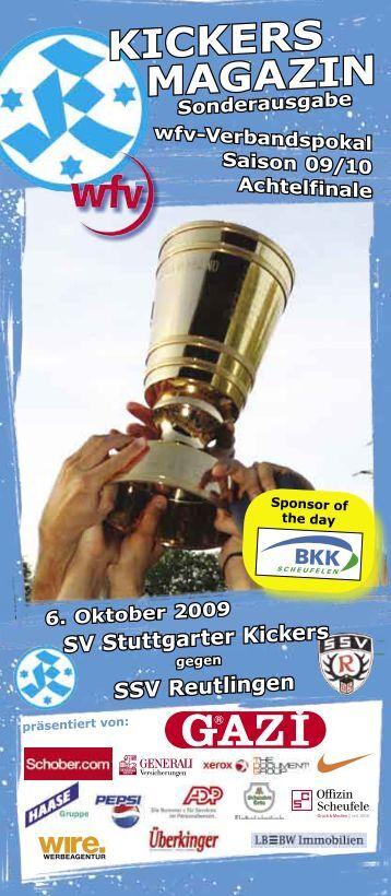 Sonderausgabe Kickers-Magazin wfv-Pokal SSV Reutlingen (pdf