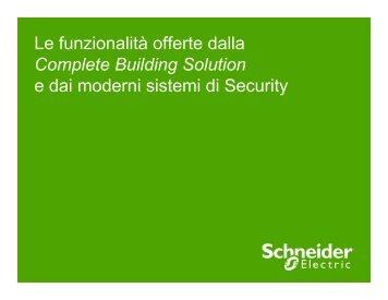 Presentazione del servizio Building di Schneider Electric