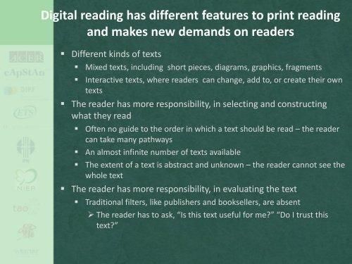 Digital reading in PISA 2009