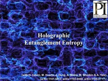 Holographic Entanglement Entropy - KIAS