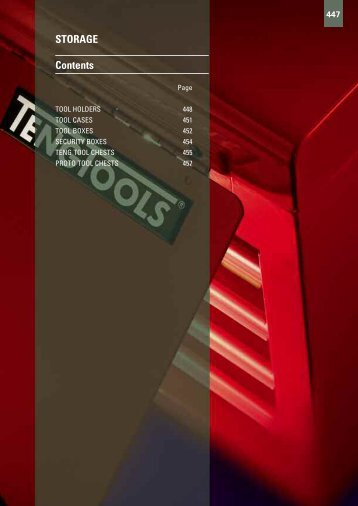 STORAGE Contents - Gibb Tools