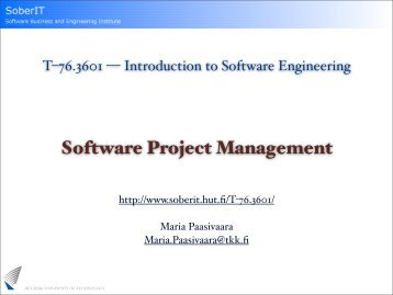 Software Project Management - SoberIT