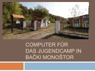 Das Computerprojekt im Überblick - sombor.ch