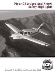 Piper Cherokee and Arrow Safety Highlights Piper Cherokee and ...