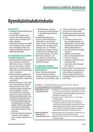 Rytmihäiriötahdistinhoito - Terveyskirjasto