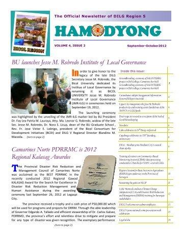 Hamodyong September-October 2012 - DILG Regional Office No. 5