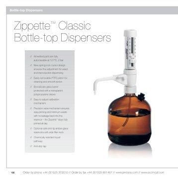 Jencons laboratory catalogue Zippette bottle top ... - Who-sells-it.com