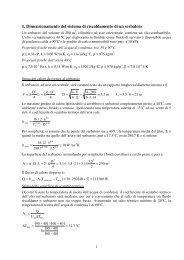 1. Dimensionamento del sistema di riscaldamento di un serbatoio