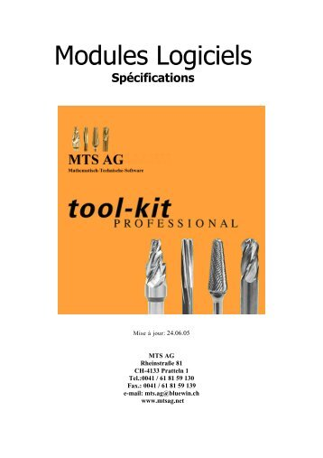 Modules Logiciels - MTS AG