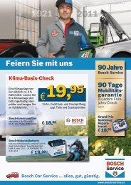 Feiern Sie mit uns - BOSCH Car Service Zitta KFZ
