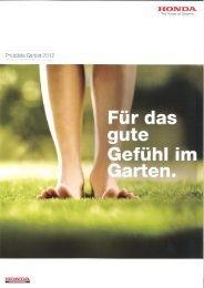 Garten- und Rasenpflegeprogramm 2012 Preisliste (PDF ... - Honda