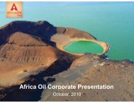African Oil 2 - Mark Latham Commodity Equity Intelligence Service