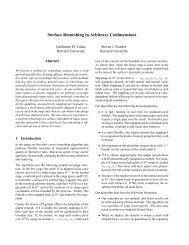 Surface Remeshing in Arbitrary Codimensions - Harvard University