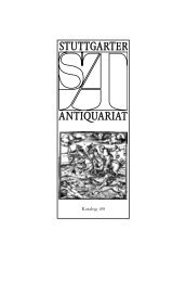 Katalog 188 - Stuttgarter Antiquariat
