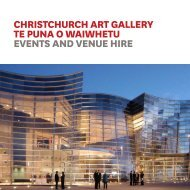 Events and Venue Hire Brochure - Christchurch Art Gallery