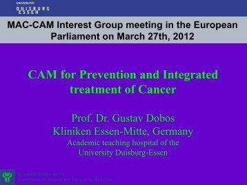 CAM for Prevention and Integrated treatment of Cancer - Shiatsu ...