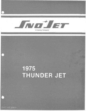 1975 Thunderjet - Vintage Snow