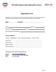 TDI Hollis Explorer Sport Rebreather Course Registration Form