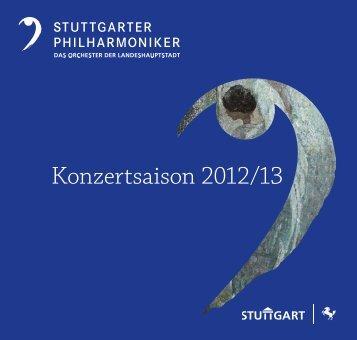 Broschüre zum Herunterladen (pdf) - Stuttgarter Philharmoniker