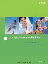 Unit 6 Long weekends and holidays - Hueber