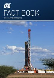 Download 2013 Half-yearly fact book PDF - Tullow Oil plc