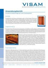 Anwendungsbericht - VISAM GmbH