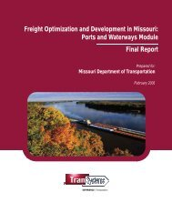Freight Optimization and Development in Missouri: Ports and ...