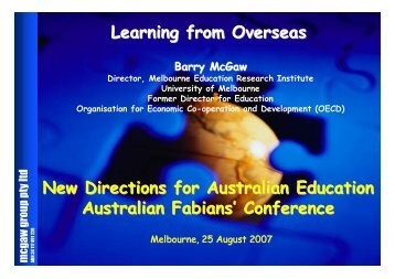 Learning from Overseas - Australian Fabian Society