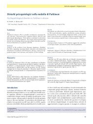 Disturbi psicopatologici nella malattia di Parkinson - ResearchGate