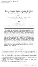 Exponentiated Gradient versus Gradient Descent for Linear Predictors