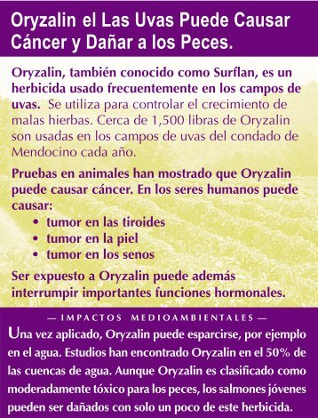 Oryzalin Span - Environmental Commons