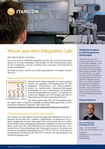 Neues aus dem Integration Lab - ITARICON