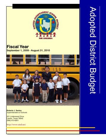 2010 Adopted Budget - United Independent School District