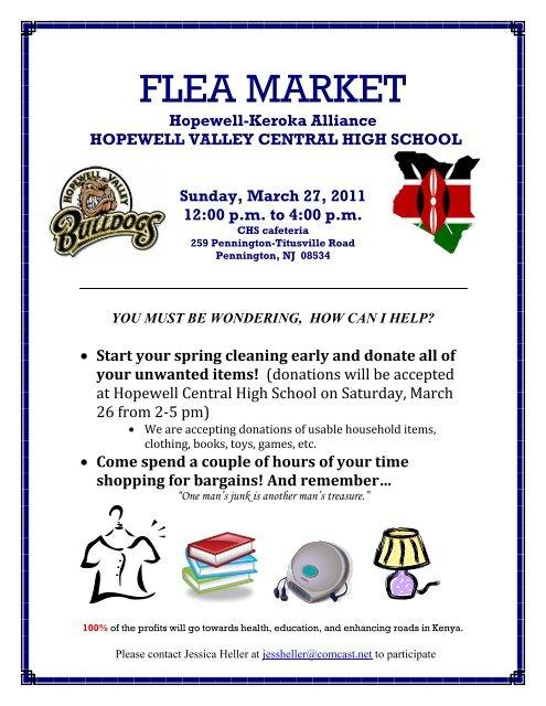 FLEA MARKET - Hopewell Valley Regional School District
