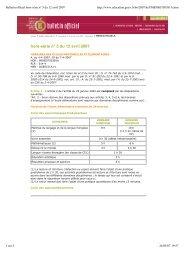 Bulletin officiel hors-série n° 5 du 12 avril 2007