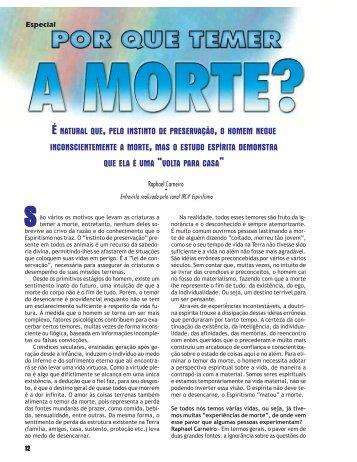 Por que temer a morte? - Revista Cristã de Espiritismo