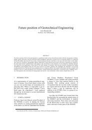 Present and future of geotechnics - part II (Joost ... - Kivi Niria