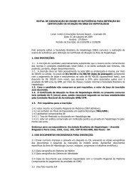 EDITAL DE CONVOCAÇÃO DO EXAME DE SUFICIÊNCIA PARA ...