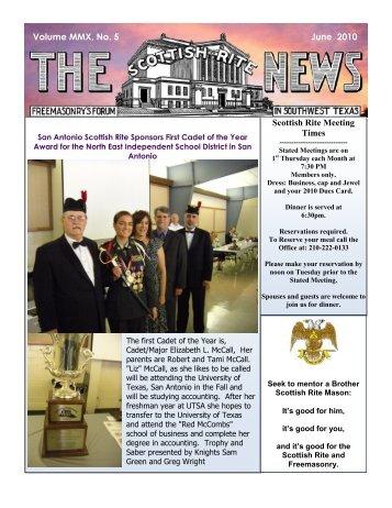 June 2010 Scottish Rite News - Valley of San Antonio - Albert Pike ...