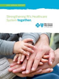 2012 annual report - Blue Cross & Blue Shield of Rhode Island