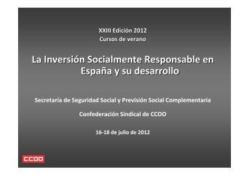 La Inversión Socialmente Responsable en España y su ... - Spainsif