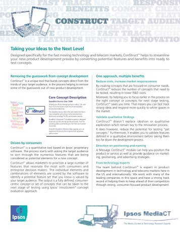 Taking your Ideas to the Next Level - Ipsos