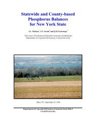 Statewide and County-based Phosphorus Balances for New York ...